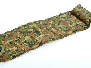 Коврик самонадувающийся с подушкой Record (190T полиэстер, размер 1,8мх0,6мх2,5см, цвет камуфляж)