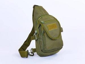 Рюкзак тактический патрульный однолямочный RECORD 10 литров (нейлон, оксфорд 600D, размер 24х17х6см, цвета в ассортименте) - Цвет Оливковый