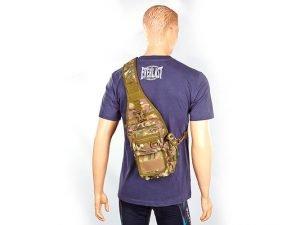 Рюкзак тактический патрульный однолямочный SILVER KNIGHT 10 литров (нейлон, оксфорд 900D, размер 30х16х8см, цвета в ассортименте) - Цвет Камуфляж Multicam
