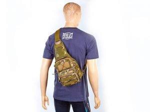 Рюкзак тактический патрульный однолямочный SILVER KNIGHT 20 литров (нейлон, оксфорд 900D, размер 25х23х10см, цвета в ассортименте) - Цвет Камуфляж Multicam