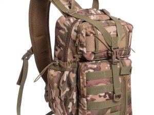 Рюкзак тактический патрульный однолямочный SILVER KNIGHT 30 литров (нейлон, оксфорд 900D, размер 42x25x20см,цвета в ассортименте) - Цвет Камуфляж Woodland