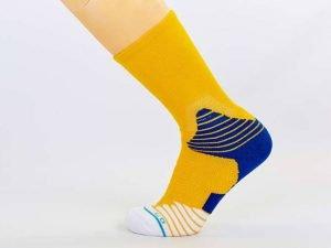 Носки спортивные для баскетбола (полиэстер, хлопок, р-р 40-45, цвета в ассортименте) - Цвет Желтый