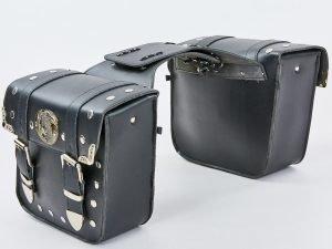 Мотосумка (2 кофра) (PVC, р-р 48*30*16см, черный)