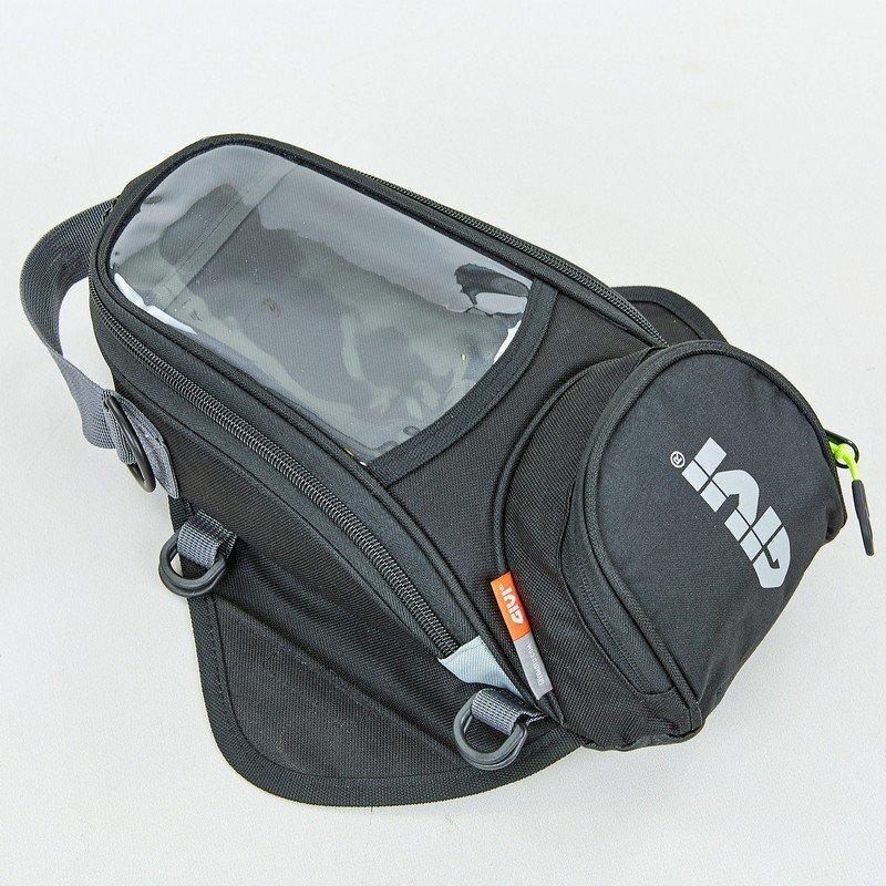 Мотосумка на бак Alpinestars (PL, р-р 32х14х7см, черный-серый-белый)