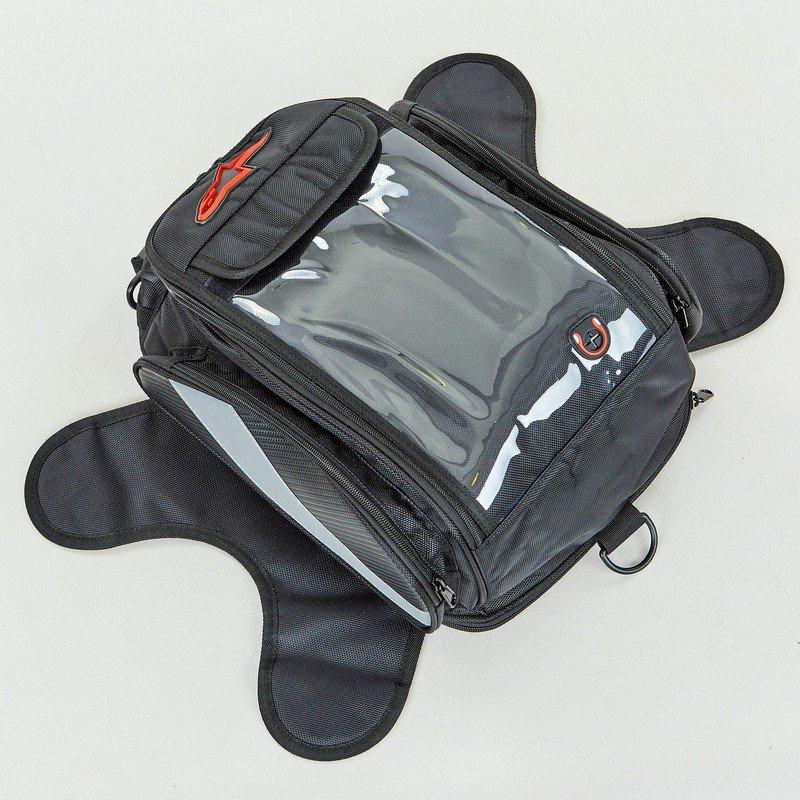 Мотосумка на бак Alpinestars на магнитах (PL, р-р 25х36х21см, черный-серый)