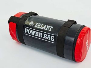 Мешок для кроссфита и фитнеса Power Bag (PVC, нейлон, вес 20 кг, черный-красный)