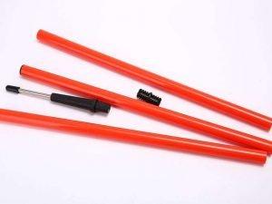 Шест для слалома тренировочный 3 сложения (пластик,метал. штык для крепл. в грунт, l-1,6м)