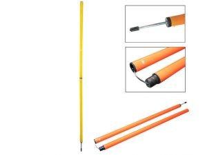 Шест для слалома тренировочный (пластик, метал. штык для крепления в грунт, l-1,6м)