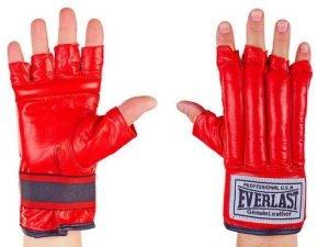 Снарядные перчатки шингарты кожанные ELAST (размер M-XL, цвета в ассортименте) - Красный-L