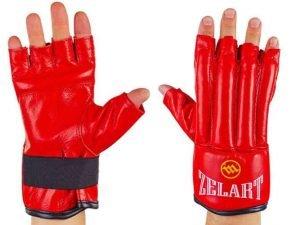 Снарядные перчатки шингарты кожанные MATSA, ZELART (размер M-XL, цвета в ассортименте) - Красный-XL
