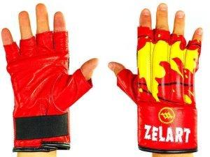 Снарядные перчатки шингарты кожанные ZELART (размер M-XL, цвета в ассортименте) - Красный-L