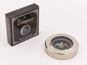 Компас магнитный (d-60мм, металл, пластик) LP-57