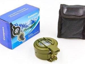 Компас магнитный в металлическом корпусе (d-60мм, металл, пластик, цвета в ассортименте)