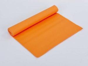Коврик для фитнеса и йоги PVC 4мм SP-Planeta (размер 1,73мx0,61мx4мм, цвета в ассортименте) - Цвет Оранжевый