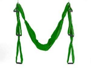 Гамак для йоги с ручками SP-Planeta Antigravity Yoga (нейлон, р-р 280х150см, цвета в ассортименте) - Цвет Зеленый
