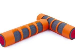 Гантели для фитнеса с неопреновым покрытием Record (2x0,5кг) (2шт, цвета в ассортименте) - Цвет Оранжевый-серый