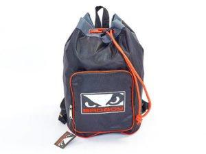 Рюкзак-баул спортивный из водонепроницаемой ткани BAD BOY (45x35x20см, черный-серый-красный)