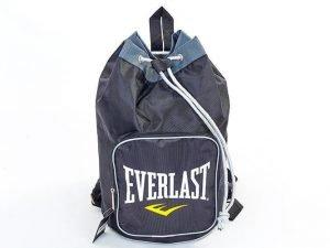 Рюкзак-баул спортивный из водонепроницаемой ткани ELAST (45x35x20см, черный-серый)