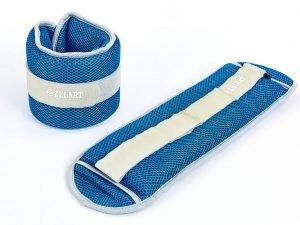 Утяжелители-манжеты водонепроницаемые (2 x 2кг) (полиэстер, сетка, наполнитель-гель, цвета в ассортименте) - Цвет Синий-серый