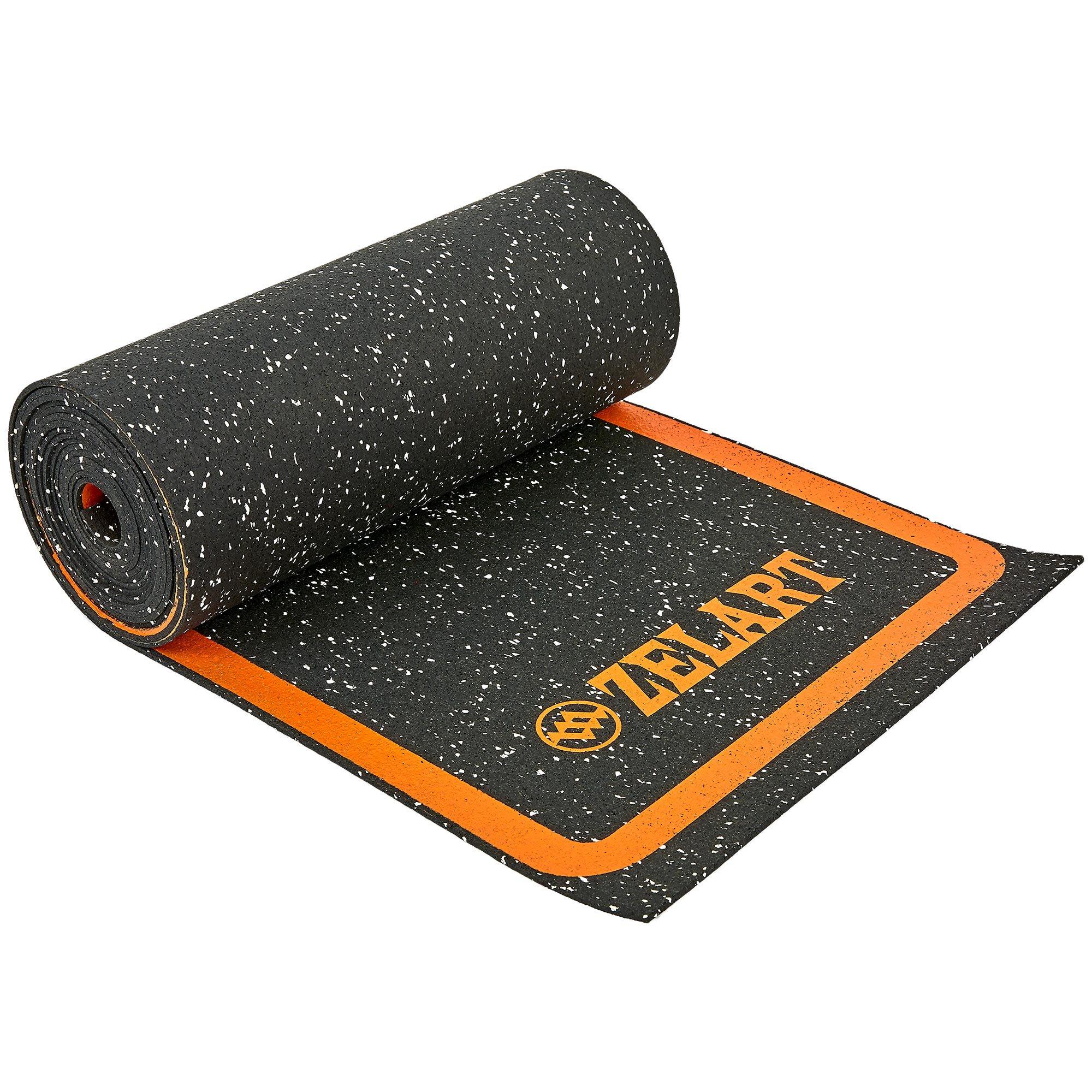Координационная лестница в рулоне 4,5м для тренировки скорости (EPDM резина, 10 секций, р-р секции 45х34х0,35см, черный-оранжевый)