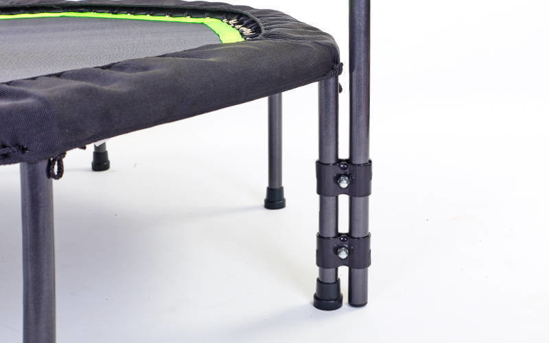 Фитнес-батут с одинарной ручкой восьмиугольный 42in RECORD (крепление жгуты с металлическим кольцом, батут d-107см, полотно d-90см, салатовый)