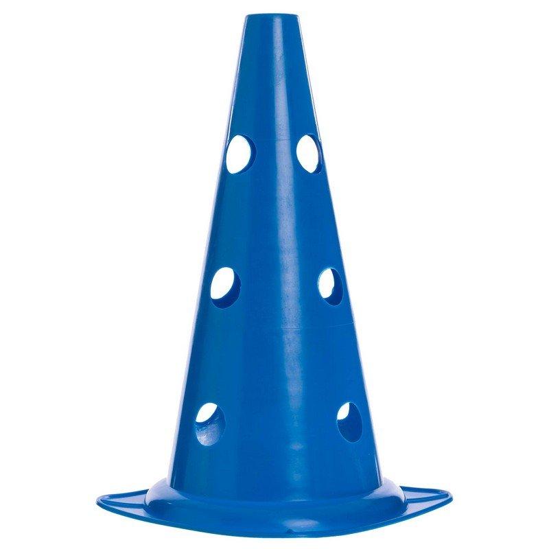 Фишка спортивная конус с отверстиями для штанги 38см (пластик мягкий, 38см(15in), цвета в ассортименте)