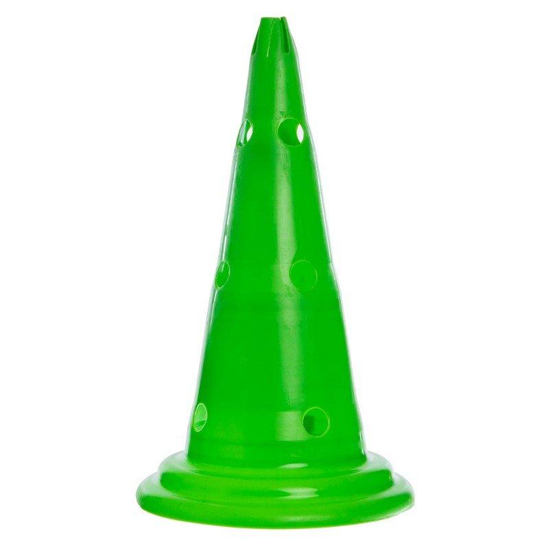 Фишка спортивная конус с отверстиями для штанги и держателем сверху 50см-G (пластик, цвета в ассортименте)