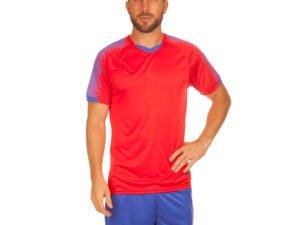 Футбольная форма (PL, р-р M-3XL, рост 155-185, красный-синий) - M, рост 155-160