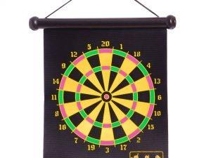 Мишень для игры в дартс магнитная двусторонняя Baili (р-р 32×40см, в комплекте 6 дротиков)