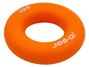 Эспандер кистевой Кольцо (1шт) (TPR, d-7см, нагрузка 50LB(22,5кг), оранжевый)