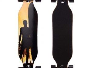 Лонгборд Бордволкинг (скейтборд в сборе) (колесо-PU, р-р деки 100×25см, АВЕС-7, цвета в асортименте)