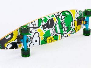Лонгборд Круизер (скейтборд в сборе) (колесо-PU, р-р деки 86×22см, АВЕС-7, цвета в асортименте)