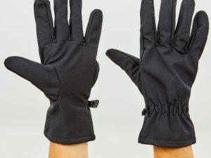 Перчатки для охоты, рыбалки и туризма теплые флисовые (флис, полиэстер, закрытые пальцы, р-р M-XL, черный) - M