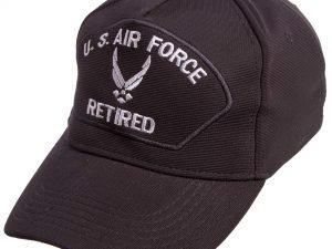 Бейсболка тактическая US AIR FORCE (хлопок, полиэстер, размер регулируемый, черный)