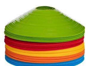 Фишки для разметки поля 50шт UR С-5899 (пластик, d-20см, комплект 50шт, цвета в ассортименте)
