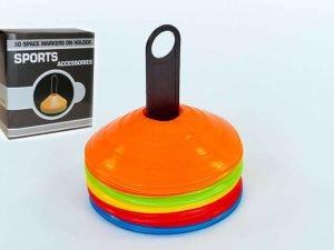 Фишки для разметки поля на пластиковой подставке 50шт С-4347 (d-20см, 50шт, 34гр,уп. цветная короб.)
