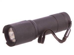 Фонарик ручной светодиодный (пластик, 1 светодиод, на батарейках (3 AAA), l-10,5см)