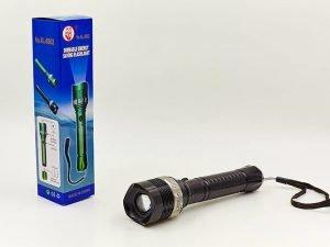 Фонарик ручной светодиодный (пластик, 1 Cree Led лампа, zoom , на батарейках(2 AA)