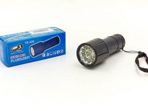 Фонарик ручной светодиодный (металл, пластик, 14 светодиодов, на батарейках (3 AAA))