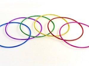 Обруч цельный гимнастический пластиковый Record (d-65см, для детей 6-7лет)