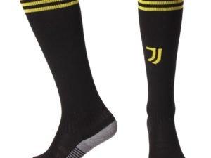 Гетры футбольные с символикой футбольного клуба JUVENTUS AWAY-2 2019 (размер 27-34, черный)