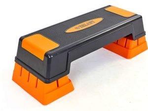 Степ-платформа (пластик, покрытие TPR, р-р 70(75)Lx25Wx12(23)Hсм, черный)