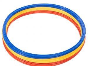 Кольца тренировочные (пластик, d-60см, в комплекте 12шт.красный, желтый, синий, оранжевый)