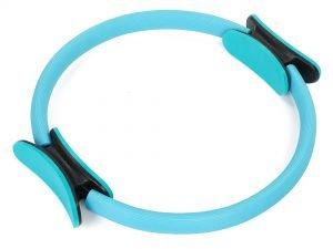 Кольцо для пилатеса Record (металл, неопрен, EVA, d-36см, цвета в ассортименте) - Цвет Голубой
