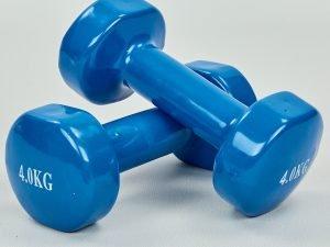 Гантели для фитнеса с виниловым покрытием SP-Planeta Радуга (2×4кг) (2шт, синий)