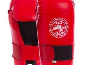 Перчатки для тхэквондо ITF (PU, р-р XL, красный)