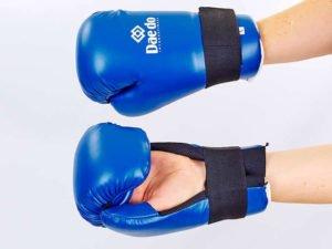 Перчатки для тхэквондо DADO (PU, р-р S-L, синий) - L