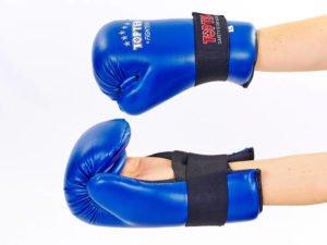 Перчатки для тхэквондо TOP TEN (PU, р-р S-L, синий) - L