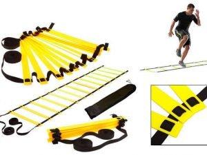 Координационная лестница дорожка для тренировки скорости 6м (12 перекладин) (6мx0,52мx2мм, цвета в ассортименте) - Цвет Желтый