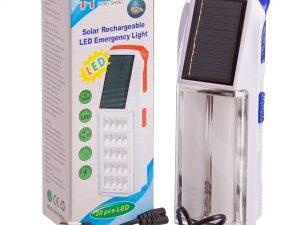 Фонарь аккум. светодиодный переносной (2 лампы, солн. бат., аккум., USB вход, р-р 19,5х7см)